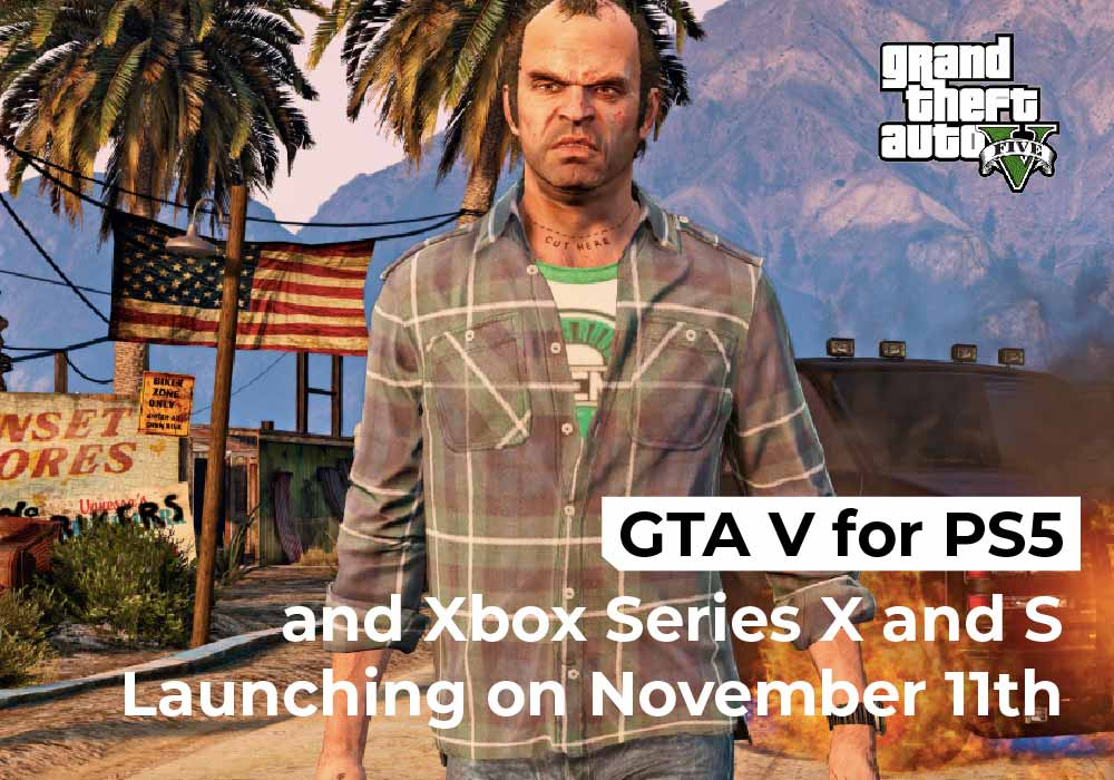 GTA V for PS5 and Xbox Series X and S Launching on November 11th